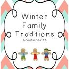 Activities on Winter Family Traditions.  Great non-fiction text, non fiction worksheets, and informational writing about family traditions