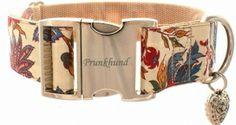 Bluehendes Barock Halsband Prunkhund karo englisch breit
