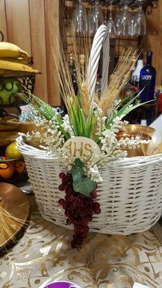 First communion basket