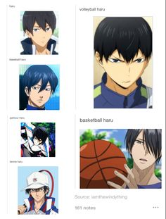 Why is there a lot of characters that look like hard on sports anime!?