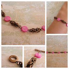 My bright rose version. //   A versão rosa vivo da mesma pulseira. #ACBEADS