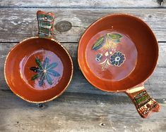 Old Mexican Pottery Round Dishes with Handle Nesting Bowls Tlaquepaque, Rustic Decor Farmhouse, Southwestern Home Bohemian Ceramics Redware Hacienda Decor, Hacienda Style, Mexican Hacienda, Rustic Charm, Rustic Decor, Southwestern Home, Beach House Kitchens, Nesting Bowls, Pottery Art