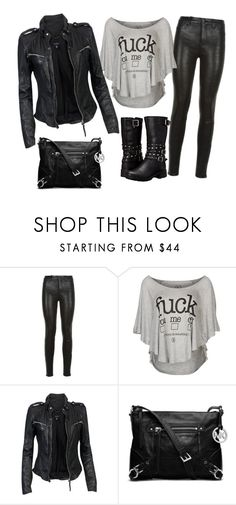 """""""Jen3"""" by personaggia ❤ liked on Polyvore featuring J Brand, BOOM BAP, MuuBaa, MICHAEL Michael Kors and Harley-Davidson"""