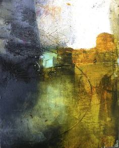 "Saatchi Art is pleased to offer the painting, ""Thin Hope by Nicola Morgan. Original Painting: Oil, Charcoal, Wax on Wood. Landscape Artwork, Abstract Landscape, Abstract Art, Abstract Paintings, Photography Collage, Paint Photography, Paintings For Sale, Original Paintings, Original Art"