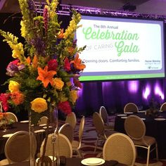 We had a very rewarding morning setting up for the Celebration of Caring Gala for the Peyton Manning Children's Hospital. Unfortunately, the man of the hour never arrived to check on us!  #PeytonManning  #fundraiser #indianapolis #indy #loveindy #indylove #event #florist #marriott #celebrationofcaring