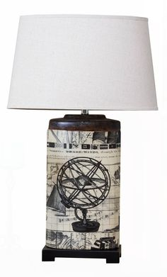Michael Anthony Furniture Vanguard Series Oval Archaic Globe Table Lamp