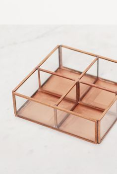 Buy Nkuku - Copper and Glass Open Divider Box by Nkuku from NoteMaker.com.au…