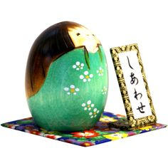 Usaburo Kokeshi SHIAWASE (HAPPINESS), Green - MMH Collectibles Japan
