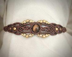 Spiral Tribe Macrame Bracelet Tribal Ethno by MacramaniaShop