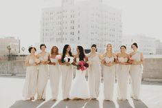 Logan Cole Photography // mixed styles bridesmaid dresses