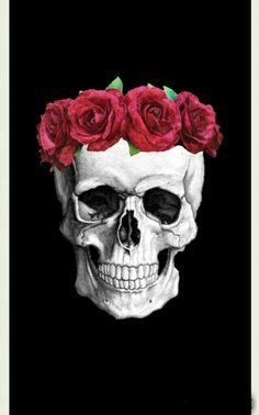 Witchy Wallpaper, Skull Wallpaper, Wallpaper Backgrounds, Cute Skeleton, Skeleton Art, Sugar Skull Tattoos, Sugar Skull Art, Skull Furniture, Skull Painting