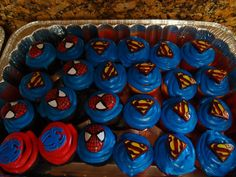 Caden's Superhero Birthday Cupcakes