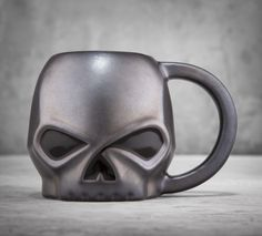 Not a morning person? We're pretty sure no one will bother you when you drink your coffee from this mug. | Harley-Davidson Sculpted Skull Mug