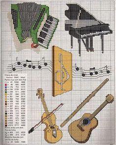 Graficos de instrumentos musicais | Gráficos de Ponto Cruz