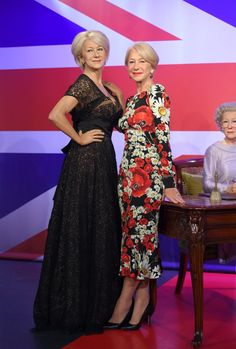Pin for Later: No, You're Not Still Drunk From Last Night, Helen Mirren Really Does Have 3 Wax Figures