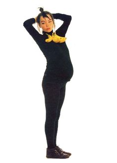 Pregnant Bjork...back when she was in the band Kukl