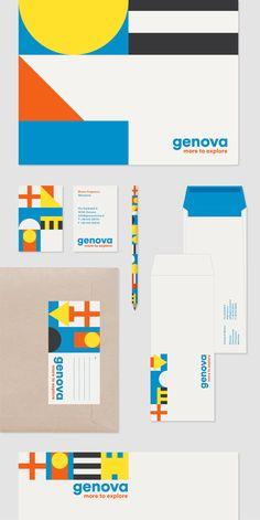 Genova City Logo - Davide Di Gennaro – Each line of code or combination of… Brand Identity Design, Stationery Design, Corporate Design, Graphic Design Typography, Branding Design, Logo Design, Destination Branding, City Branding, Logo Branding