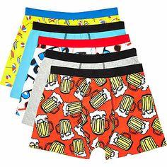 786b7e1f2af91 Mixed print boxer shorts pack £22.00 Боксеры Трусы, Собаки Боксеры,  Смешивание Принтов,