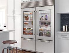 Sub-Zero Refrigeration Combos   Dual BI-30UG/S Subzero Refrigerator, Glass Door Refrigerator, Outdoor Refrigerator, Refrigerator Storage, Refrigerator Freezer, Huge Kitchen, Kitchen On A Budget, Kitchen Ideas, Glass Kitchen Cabinets