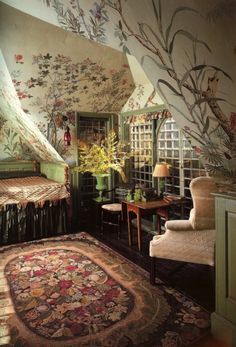 Beauport: An early designer showhouse – Landhaus Tapete – Home Decor Indie Bedroom, Bedroom Decor, Bedroom Ideas, Modern Bedroom, Wall Decor, My New Room, My Room, Interior Exterior, Interior Design
