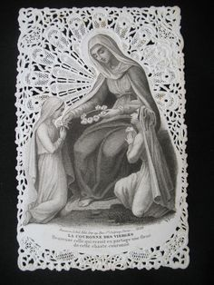 CANIVET IMAGE PIEUSE BOUASSE LEBEL n°1029 1860 circa HOLY CARD PIOUS 19thC
