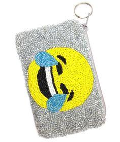 Moyna Emoji Beaded Coin Purse