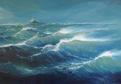 Herman Dasselaar. Zee Acryl on canvas 70 x 100 cm
