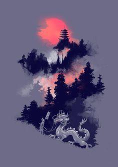"Samurai's life by Budi Satria Kwan STRETCHED CANVAS / SMALL (13"" X 18"") $85.00"