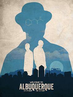 Albuquerque Breaking Bad poster alternative von TheCelluloidAndroid