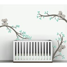 The tree wall decal with koala animals gives your baby nursery decoration to be more cool and special. It has cool Koala animal and tree branches shapes. Baby Wall Stickers, Nursery Wall Stickers, Childrens Wall Decals, Kids Wall Decals, Wall Vinyl, Pvc Vinyl, Vinyl Decals, Pattern Wall, Decoration Stickers