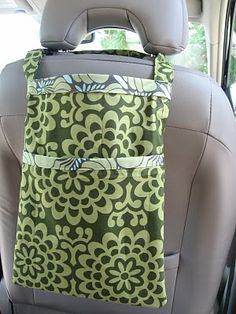 Not so Ugly Trash Bag from One Yard Wonders...my granddaughter made me one...so cute and perfect for my car!