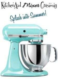 #GIVEAWAY  Whip up some yummy desserts this summer!  Enter to win a KitchenAid Mixer!  Ends 6/28/13.
