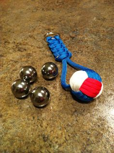 Paracord Keychain with 3/4 Steel Ball $9.00
