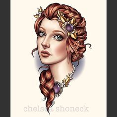 Welcome to Chelsea Shoneck Traditional Tattoo Flash, Neo Traditional, Head Tattoos, Girl Tattoos, Dragon Head Tattoo, Neo Tattoo, Girl Face Drawing, Woman Face, Lady Face