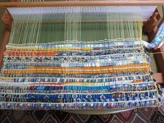 Weaving a Rag Rug on the Rigid Heddle Loom -- tutorial (also check out the PDF link to the Recessionista Rug Mats project by Jane Patrick)