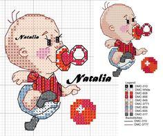 "Photo from album ""Schemi - Natalia/ Схемы - Natalia"" on Yandex. Cross Stitch Baby, Cross Stitch Patterns, Cross Stitch Freebies, C2c, Baby Items, Needlework, Cartoon, Embroidery, Sewing"