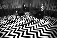 Black Lodge set from Twin Peaks photographed by Richard Beymer.