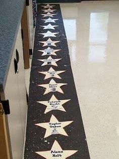 Cool idea for class who is graduating Could do start with # their name or just # shapes