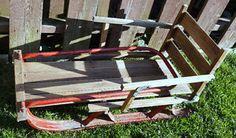 Vintage Wooden Sled Sleigh with Metal Runners - Folding Sleigh Oshawa / Durham Region Toronto (GTA) image 2