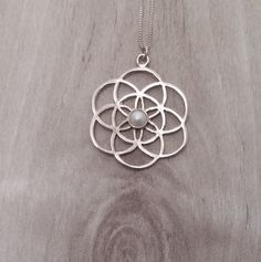 flower of power  silver, necklace flower of life,Flower Of Life Necklace - Sacred Geometry - Mandala Necklace - Holistic Yoga Chakra Jewelry by floweroflife247 on Etsy