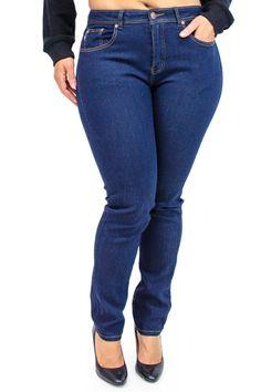 Plus Size Dark Denim Blue Jeans