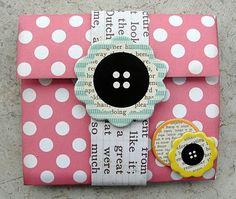 mini photo album - great idea for mailing to the grandparents.