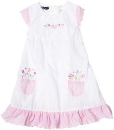 dbb81e71292e Amazon.com  So La Vita Little Girls  Eyelet Flower Pocket Dress