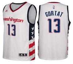Washington Wizards #13 Marcin Gortat 2016-17 Stars & Stripes White Alternate Swingman Jersey