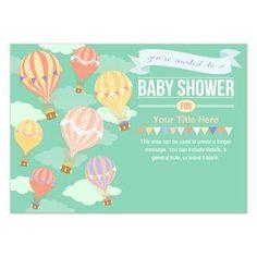 pingg design: Hot Air Balloon Baby Shower