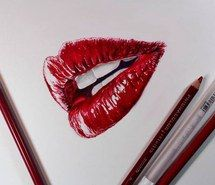 Inspiring image beautiful, drawing, lips, red, smile #1071373 by danielmiller8540. Resolution: 500x501px. Find the image to your taste!