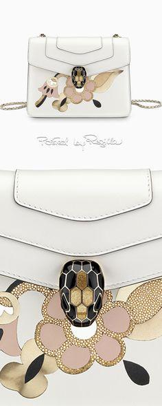 Regilla ⚜ Bulgari, bags, purses, handbag, white,