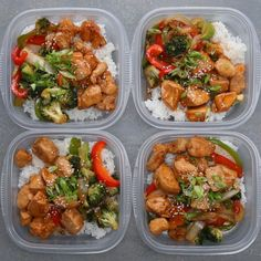 Chicken and Veggie Teriyaki Stir Fry Bowl. Make This For Your Next Weekday Meal Prep fitness, Weekday Meal-prep Chicken Teriyaki Stir-fry Lunch Meal Prep, Healthy Meal Prep, Healthy Eating, Clean Eating, Simple Meal Prep, Stir Fry Meal Prep, Fitness Meal Prep, Fitness Diet, Dinner Meal