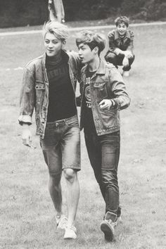 EXO Tao and Lay bw on DIE JUNGS photobook i just love them #zitao #yixing