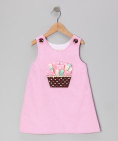 Pink Gingham Ribbon Cupcake A-Line Dress - Toddler & Girls | Daily deals for moms, babies and kids